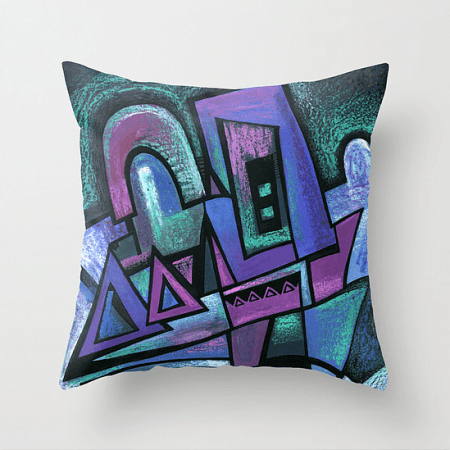 Deyana Deco - WINTER NIGHT Throw Pillow 18x18
