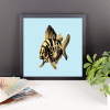 Deyana Deco - YELLOW FISH Framed Poster 12x12
