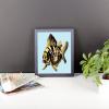 Deyana Deco - YELLOW FISH Framed Poster 8x10